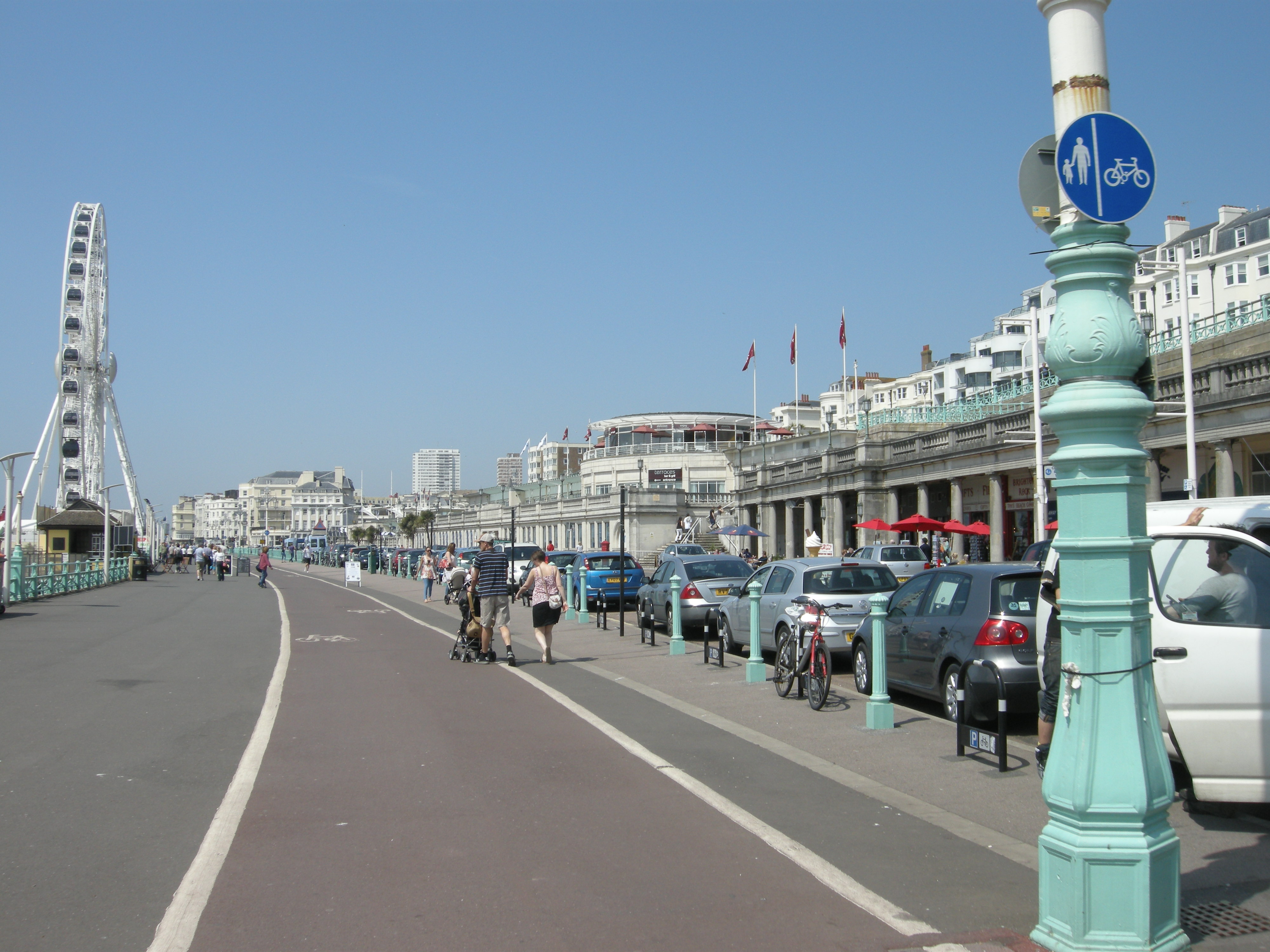 Brighton weather and parking charges as easy as riding for The brighton