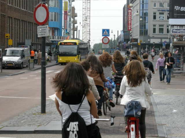 Dutch teenagers being active without realising it. Not sport.