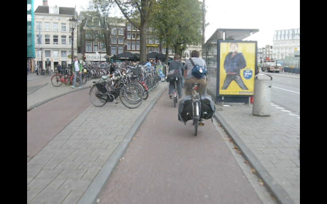 Amsterdam. Bus stop passed without interaction with buses.
