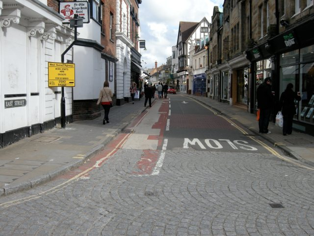 Initially, a contraflow cycle lane on an ordinary 'road'