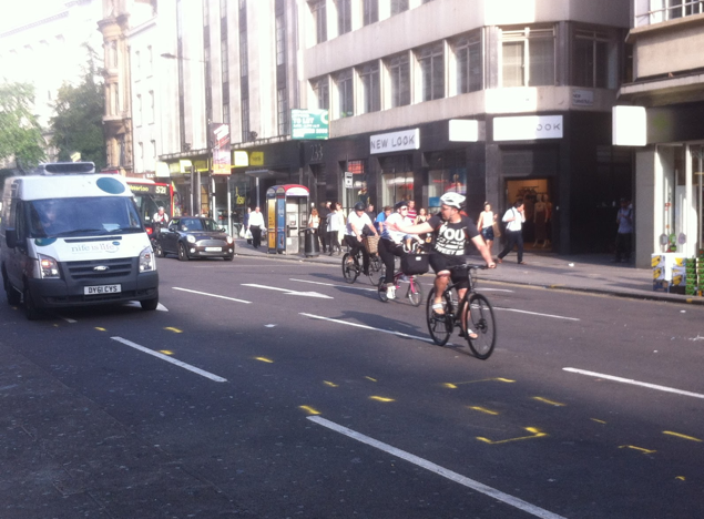 The High Holborn crash site - picture by Mark Ames