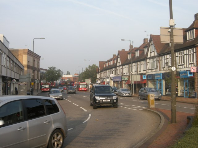 The A24 in the centre of Morden, south London