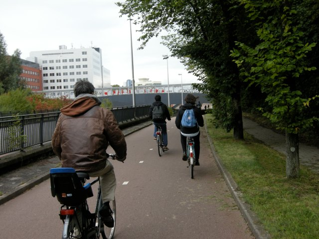 A small cycle track peloton