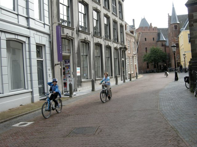 Children riding independently, in safety, right in the centre of the city