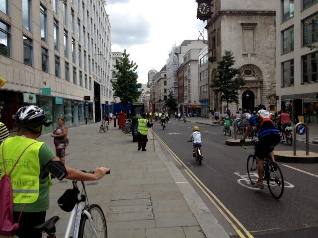 Picture taken during the closed roads of the RIde London event. No children here ordinarily