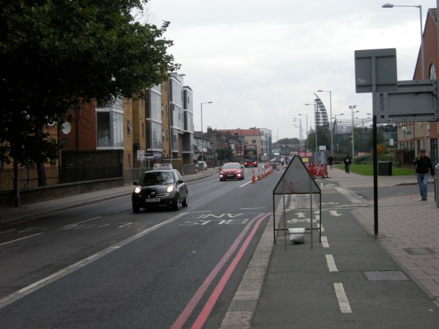 When this road is reduced to two lanes, surely there will be space for cycling?