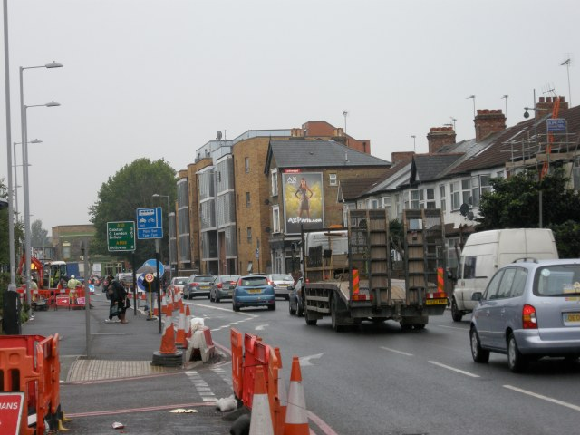 Will people ride in that volume of motor traffic? Or will they opt to ride (illegally) on the wide new pavements?