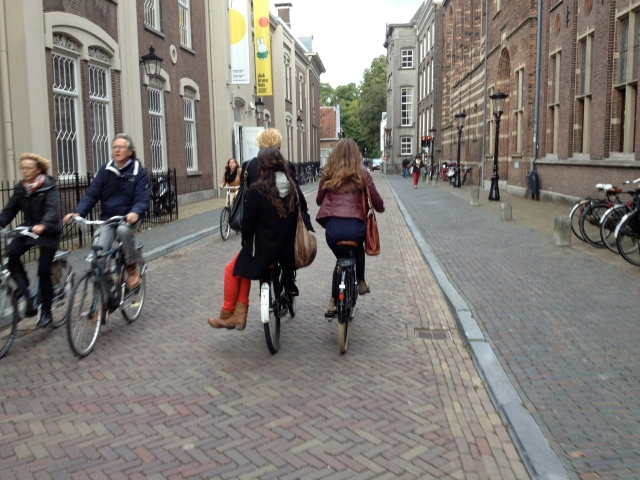 Physical separation, through removal of motor traffic. 'Kerb nerds' want this too!
