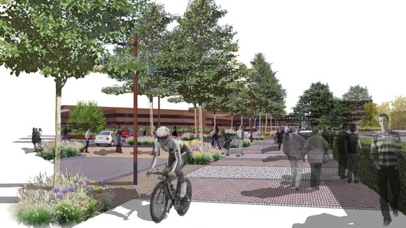 A vision for the type of cycling Peterborough want in their town centre