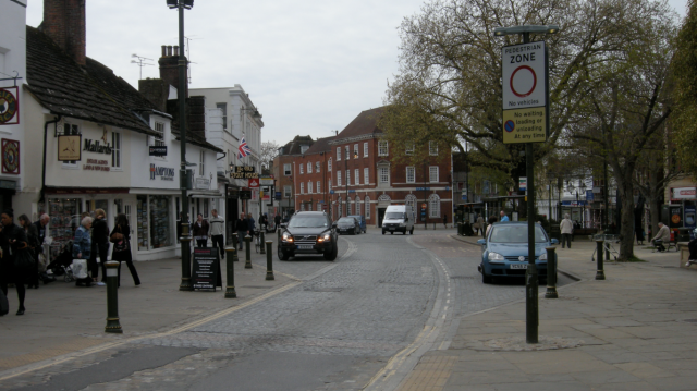 The only route through Horsham town centre.