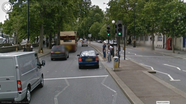 Nearly every single crossing on the Embankment is like this.