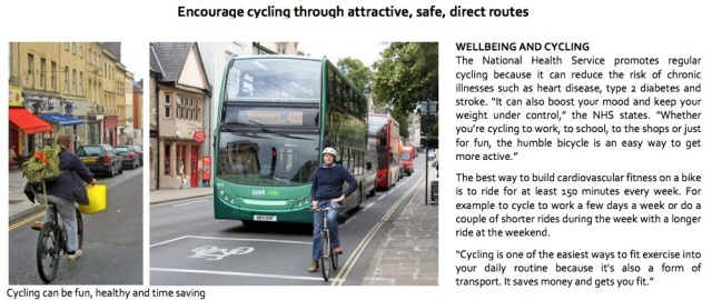 'Encourage cycling through attractive, safe, direct routes'
