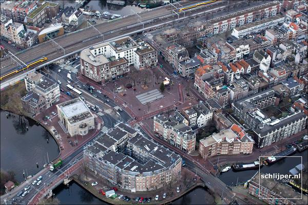 Photograph of Haarlemerplein from the air, by Thomas Schlijper