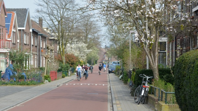 A fietsstraat in Nijmegen