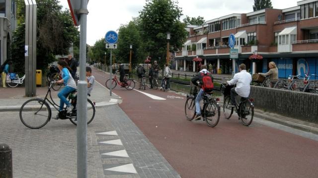 A fietsstraat in Utrecht