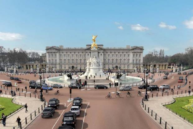 How the route would look, if it wasn't being blocked by the Royal Parks
