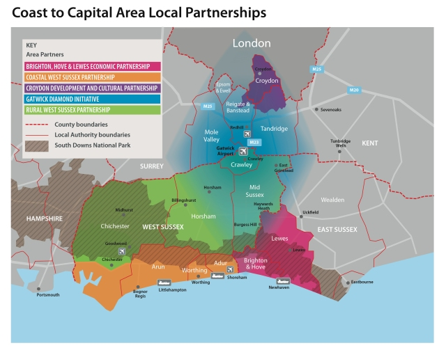 The Coast to Capital LEP region