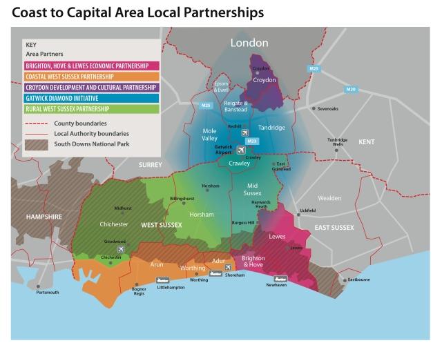 The Coast to Capital LEP region