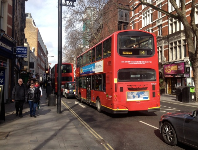 Looking north up Charing Cross Road. You will have to cycle in this, on the 'Quietway'.