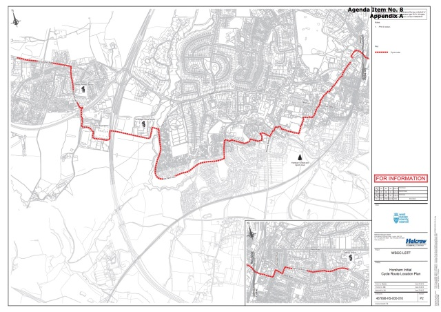 HOrsham East West LSTF route copy
