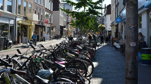 Cycle parking on Voorstraat