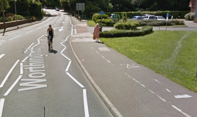 You can see this on Streetview, along with someone sensibly ignoring this rubbish.