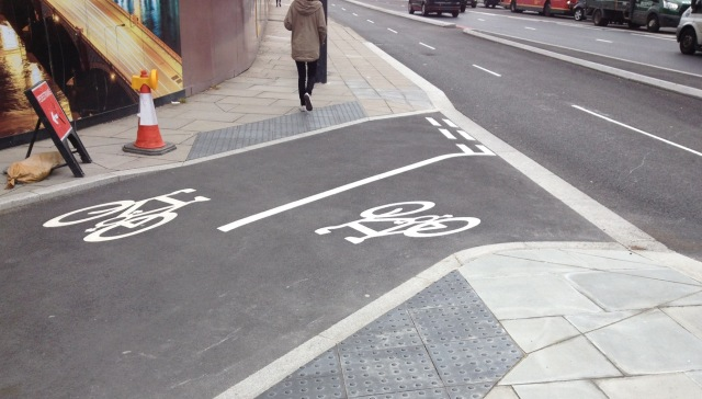 Designed and marked like a road - but for cycles.