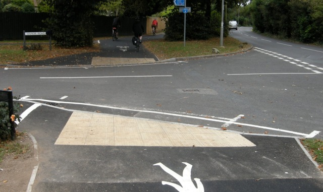 A smooth and reasonably wide path - but look what happens at junctions.