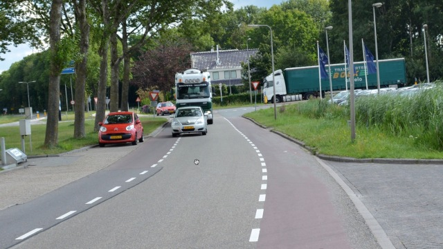Busy service road Hasselt