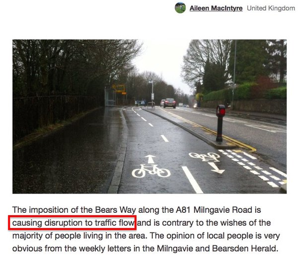 Illustrate your point with a picture of all the stationary motor traffic that has suddenly appeared once a cycle scheme has been built.
