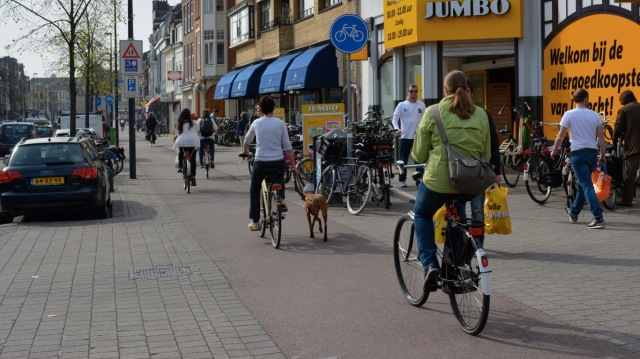 Just a part of the street, invisible to Dutch people.