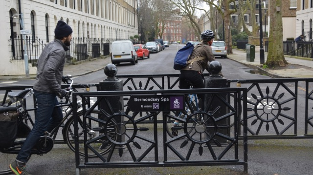 Quietway 1 barrier Trinity Street
