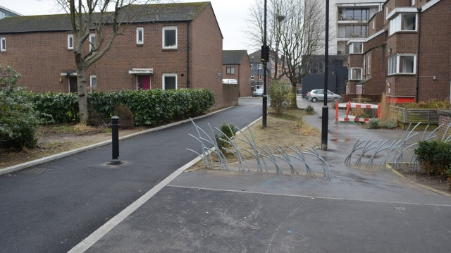 A new path connecting to Rothsay Street. That old barrier needs to go though