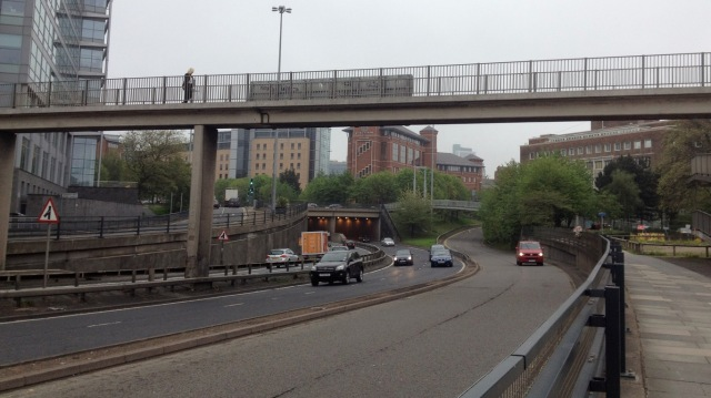 Leeds city centre. A colossal rebuilding of the urban environment, all for one mode of transport.