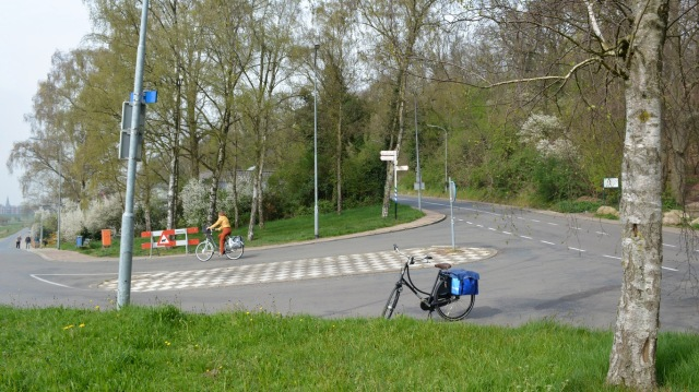 My bike and a hill, Wageningen, NL