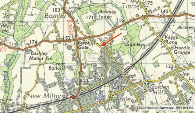Cull Lane, indicated by the red arrow