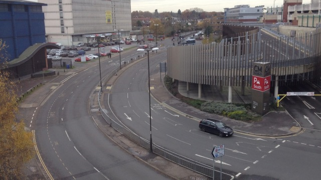 What designing a town for mass motoring looks like - Crawley town centre