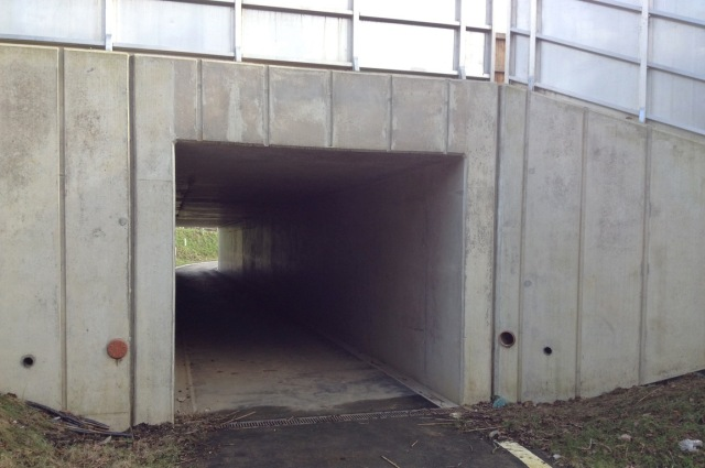 A relatively new Highways England underpass, under the A23 near Handcross in West Sussex.